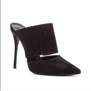 Black SCHUTZ stiletto mules